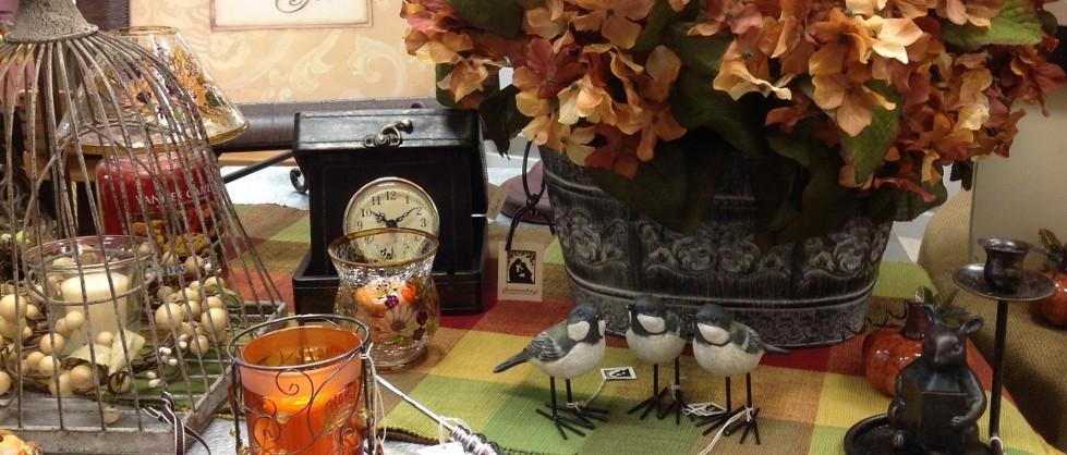 Fall hydrangea and birds