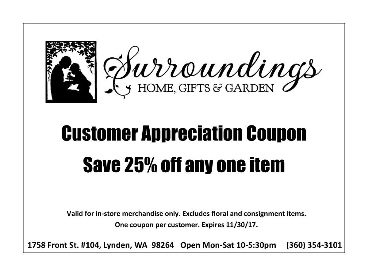 customer appreciation coupon